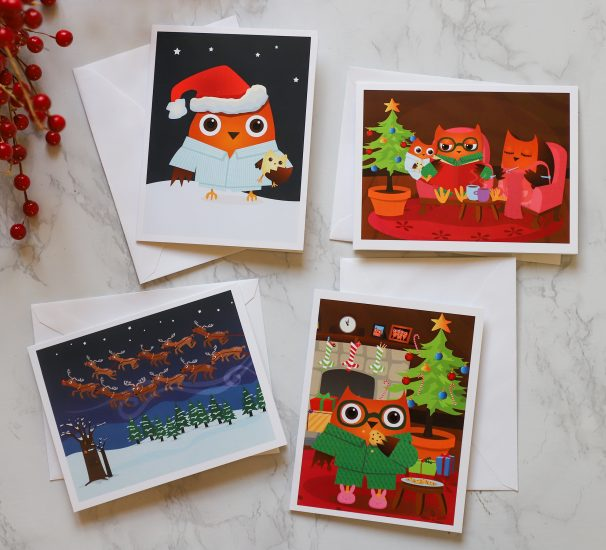 Little hoo Christmas Cards are Here!